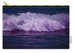 Midnight Ocean Wave In Ultra Violet Carry-all Pouch