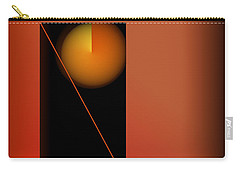 Midnight Orange Carry-all Pouch by John Krakora