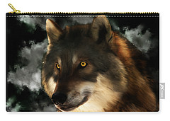 Midnight Stare - Wolf Digital Painting Carry-all Pouch