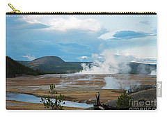 Midway Geyser Area Carry-all Pouch by Cindy Murphy - NightVisions