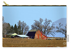 Carry-all Pouch featuring the digital art Midwest Farm by Kirt Tisdale