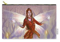 Carry-all Pouch featuring the painting Midwinter Blessings by Amyla Silverflame