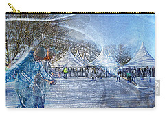 Carry-all Pouch featuring the photograph Midwinter Blues by LemonArt Photography