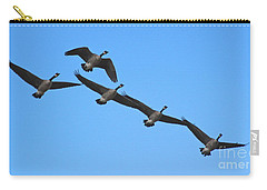 Carry-all Pouch featuring the photograph Migrating Geese by Ann E Robson