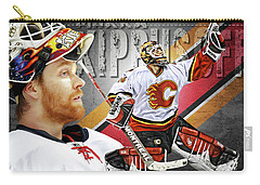 Carry-all Pouch featuring the photograph Miikka Kiprusoff by Don Olea