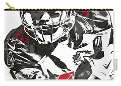 Carry-all Pouch featuring the mixed media Mike Evans Tampa Bay Buccaneers Pixel Art by Joe Hamilton