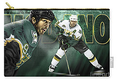 Carry-all Pouch featuring the digital art Mike Modano by Don Olea