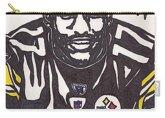 Carry-all Pouch featuring the drawing Mike Wallace 1 by Jeremiah Colley