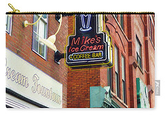 Mike's Ice Cream And Coffee Bar Carry-all Pouch by Sandy MacGowan