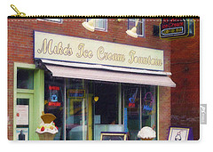 Mike's Ice Cream Fountain Carry-all Pouch by Sandy MacGowan