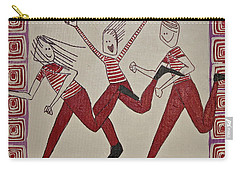 Carry-all Pouch featuring the painting Mikey Just Likes To Participate by Donna Howard