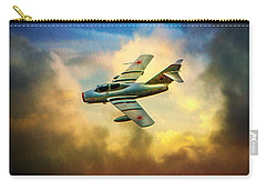 Carry-all Pouch featuring the photograph Mikoyan-gurevich Mig-15uti by Chris Lord
