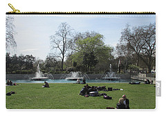 Carry-all Pouch featuring the photograph Mild Summer Afternoon At Hyde Park Corner - London 2016 by Mudiama Kammoh