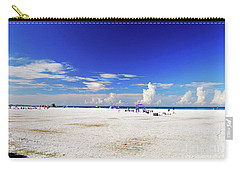 Carry-all Pouch featuring the photograph Miles And Miles Of White Sand by Gary Wonning