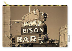 Miles City, Montana - Bison Bar Sepia Carry-all Pouch