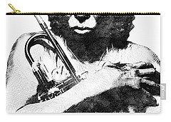 Miles Davis Bw  Carry-all Pouch by Mihaela Pater