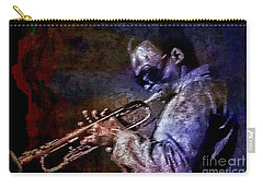 Miles Davis Jazz Legend 1969 Carry-all Pouch by Ian Gledhill