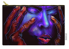 Carry-all Pouch featuring the painting Miles by DC Langer