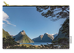 Carry-all Pouch featuring the photograph Milford Sound Overlook by Gary Eason