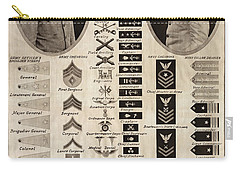 Carry-all Pouch featuring the photograph Military Rank Identification 1917 by Daniel Hagerman