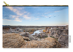 Carry-all Pouch featuring the photograph Milk River Sun Up by Fran Riley