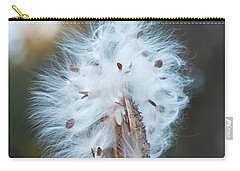 Carry-all Pouch featuring the digital art Milkweed And Its Seeds by Chris Flees