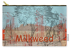 Milkweed Collage Carry-all Pouch by Cynthia Powell