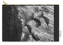 Milkweed Sunburst In Black And White Carry-all Pouch
