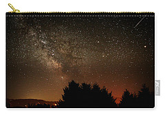 Milky Way And Falling Star Carry-all Pouch by Katie Wing Vigil