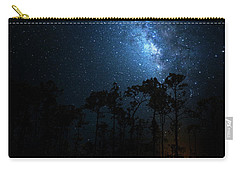 Carry-all Pouch featuring the photograph Milky Way At Big Cypress National Preserve by Mark Andrew Thomas