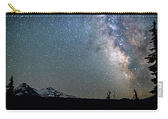 Carry-all Pouch featuring the photograph Milky Way At Mckenzie Pass by Cat Connor