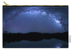 Carry-all Pouch featuring the photograph Milky Way At Mrazek Pond by Mark Andrew Thomas