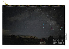Carry-all Pouch featuring the photograph Milky Way Over Campground by Anne Rodkin
