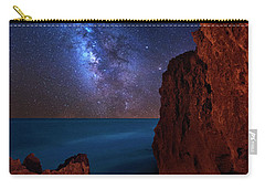 Milky Way Over Huchinson Island Beach Florida Carry-all Pouch by Justin Kelefas