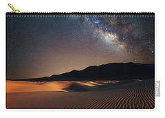 Carry-all Pouch featuring the photograph Milky Way Over Mesquite Dunes by Darren White