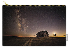 Milky Way Over Prairie House Carry-all Pouch by Kristal Kraft