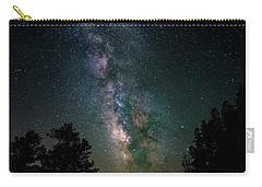 Carry-all Pouch featuring the photograph Milky Way Over Rocky Mountains by Gary Lengyel