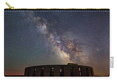 Carry-all Pouch featuring the photograph Milky Way Over Stonehendge by Cat Connor