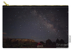 Milky Way Over White Pocket Campground Carry-all Pouch by Anne Rodkin