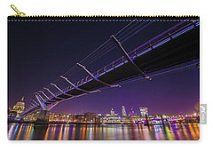 Millennium Bridge At Night 2 Carry-all Pouch by Mariusz Czajkowski