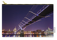 Millennium Bridge At Night  Carry-all Pouch by Mariusz Czajkowski