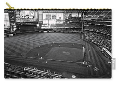 Miller Park - Milwaukee - Wisconsin Black And White Carry-all Pouch