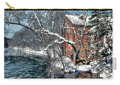 Mill House In Winter Carry-all Pouch