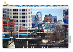 Carry-all Pouch featuring the digital art Milwaukee - I Like It by David Blank