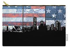 Milwaukee Skyline Usa Flag Carry-all Pouch