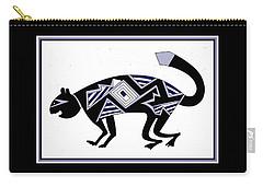 Carry-all Pouch featuring the digital art Mimbres Mountain Lion by Vagabond Folk Art - Virginia Vivier