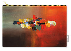 Carry-all Pouch featuring the painting Mindful - Abstract Art by Carmen Guedez