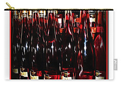 Carry-all Pouch featuring the photograph Miner Pink Sparkling Wine by Joan  Minchak