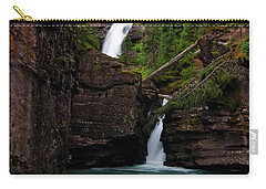 Carry-all Pouch featuring the photograph Mineral Creek Falls by Steve Stuller