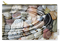 Carry-all Pouch featuring the digital art Minerals And Shells by Michal Boubin
